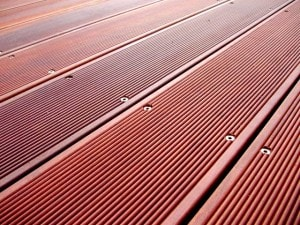 Venkovní terasová prkna - detail podlahy