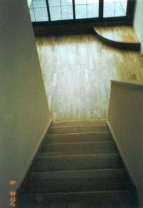 Dubová parketová podlaha včetně schodiště