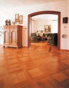 Kazetová dubová podlaha - rodinný dům
