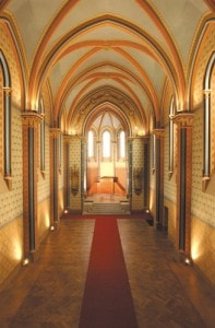 Dubová parketová podlaha - Dub - povrch olej - v chodbě kostela