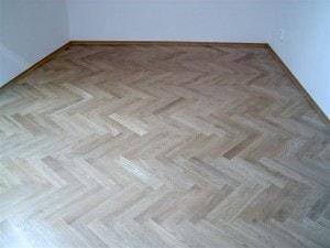 Parketová podlaha - skladba stromeček - dub