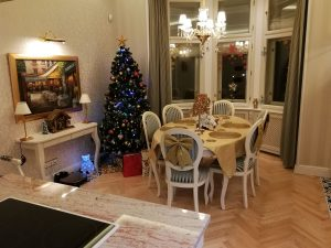 Praha Vinohrady - podlaha jasan skladbou do stromečku